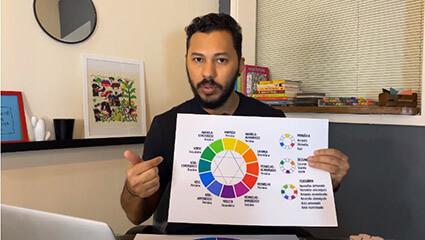aula de cores projetou professor rodrigo