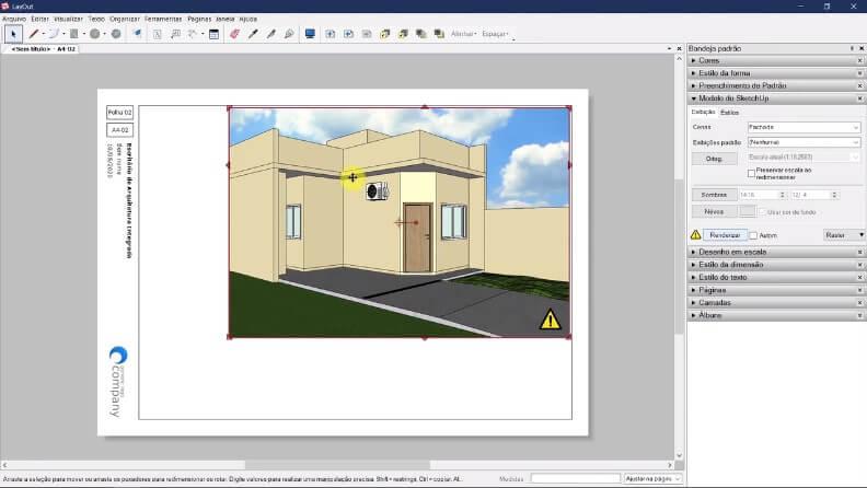 curso de layout sketchup da projetou
