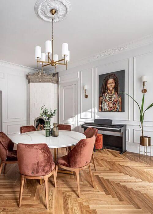 projeto de design de interiores residencial