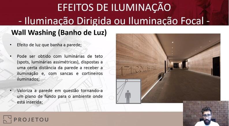 curso de luminotécnica da projetou