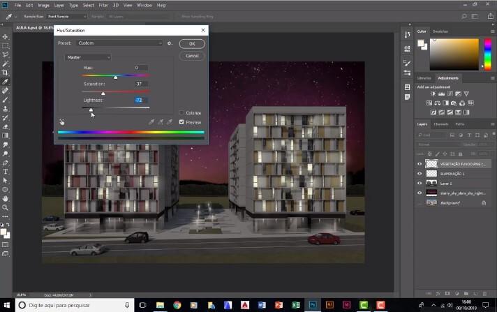 curso de photoshop para arquitetura da projetou