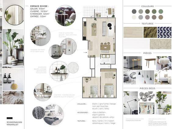 prancha de apresentação de consultoria de arquitetura e interiores